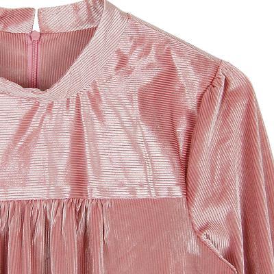 combed shirring dress deeppink